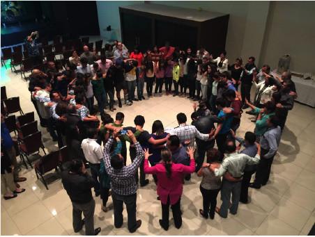 Praying and strengthening families at Vida Real Church in Guatemala City