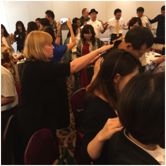 Fast Track faculty member, Shelly Pifer, in Taiwan. ministering the love of God.