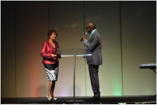 Darlene Pitts with Carlton Williams in Lagos, Nigeria