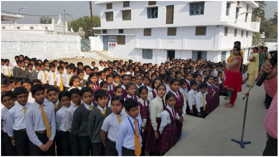 There are almost five hundred students in the MorningStar Academy in Bahraich, UP India.